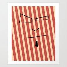 Sketch Face Art Print