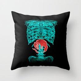Alien Xray Throw Pillow