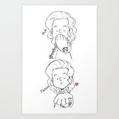 Blow A Kiss Art Print