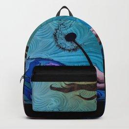 Blowing Flower Graffiti Art Backpack