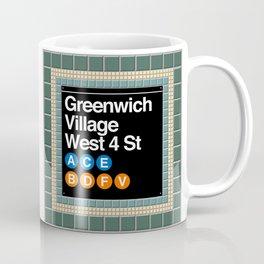 subway greenwich village sign Coffee Mug
