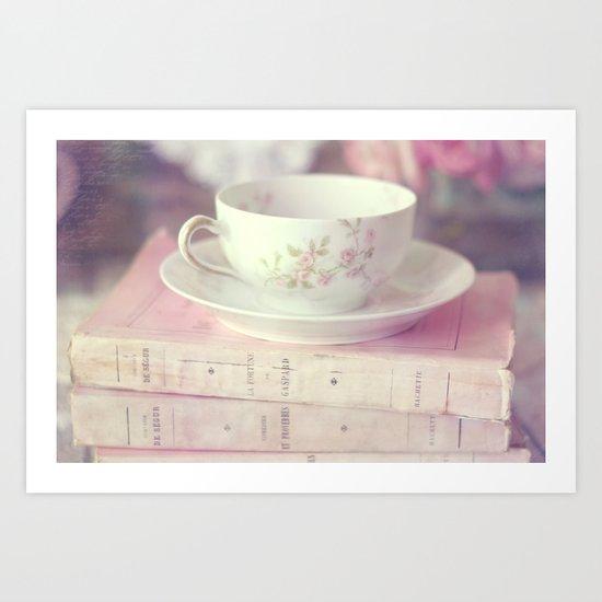 French Teacup Art Print