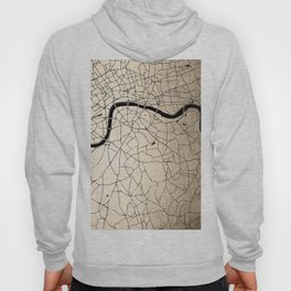 London Gold on Black Street Map II Hoody