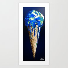 Melting World Art Print