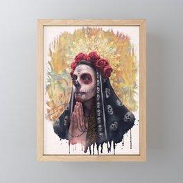 """""""Katrina"""" - Skull girl Framed Mini Art Print"""