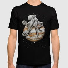 Celestial Cephalopod Mens Fitted Tee Black MEDIUM
