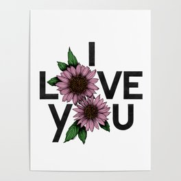 I Love You in colors Poster