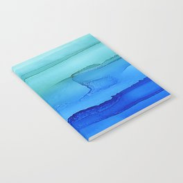 Alcohol Ink Seascape Notebook