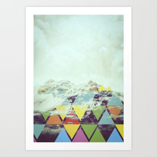 Triangle Mountain Art Print