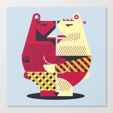 Two Bears Canvas Print