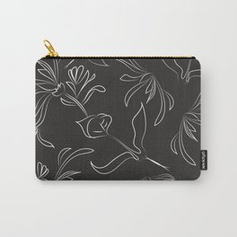 Hand Drawn Floral Carry-All Pouch