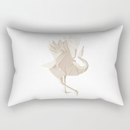 Origami Crane Rectangular Pillow