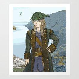 Captain Renny Art Print