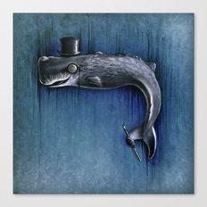 Dandy Whale Canvas Print