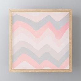 Vintage-Baby / Pastel Waves Framed Mini Art Print