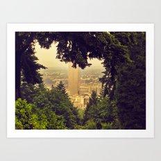 I heart Portland Art Print