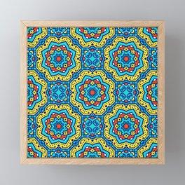 Ornate Festive Folklore Colorful Pattern Framed Mini Art Print