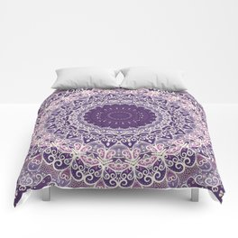 Lace on Lavender Comforters