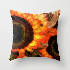 Sunflower Sizzle Throw Pillow