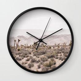 Sierra Nevada Mojave // Desert Landscape Blush Cactus Mountain Range Las Vegas Photography Wall Clock