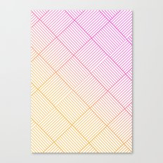 Woven Diamonds in Pink and Orange Canvas Print