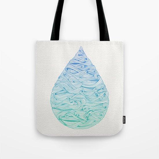 Ombré Droplet Tote Bag