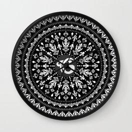 Ek Onkar / Ik Onkar Black and white #4 Wall Clock
