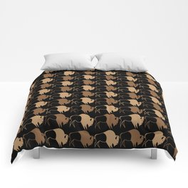 Native American Buffalo Running Comforters