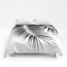 Black Palm Leaves Dream - Cali Summer Vibes #2 #tropical #decor #art #society6 Comforters