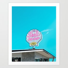 Sea Shell Shop Sign in Morro Bay Art Print