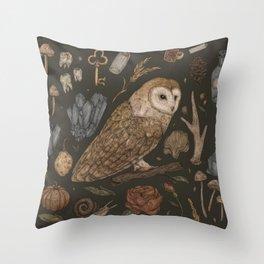 Harvest Owl Throw Pillow
