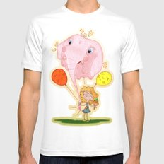 balloon MEDIUM Mens Fitted Tee White