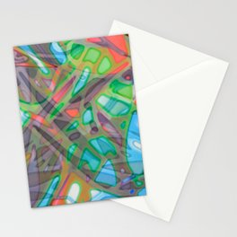 Colorful Abstract Stained Glass G299 Stationery Cards