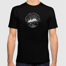wander Mens Fitted Tee Black LARGE