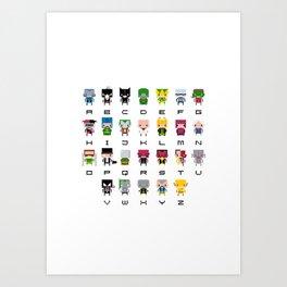 Pixel Supervillain Alphabet 2 Art Print