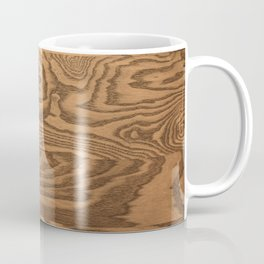 Wood 5, heavily grained wood Horizontal grain Coffee Mug