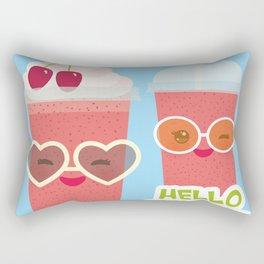 Hello Summer Kawaii cherry smoothie Rectangular Pillow