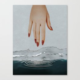 A Dip in the Depths Canvas Print