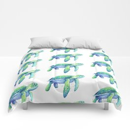 Green Sea Turtle Comforters