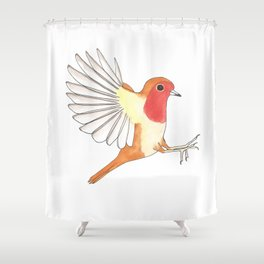 Robin In Flight Shower Curtain