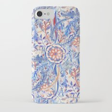 Boho Flower Burst in Red and Blue Slim Case iPhone 7