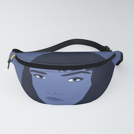 Blue woman portrait, abstract. Fanny Pack