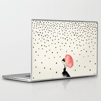 her Laptop & iPad Skins featuring Polka Rain by Karen Hofstetter