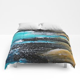 The Salty Sea Abstract Landscape Comforters