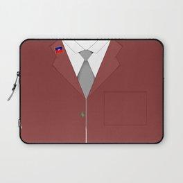 Maroon & White Haiti Laptop Sleeve