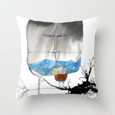 The Trouble With Flight Throw Pillow