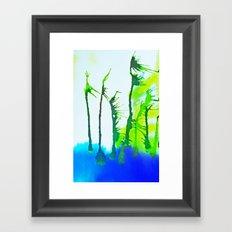 Tres Palmas Framed Art Print