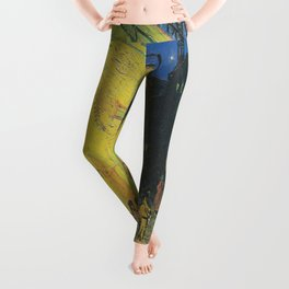 Vincent can Gogh's Cafe Terrace at Night Leggings