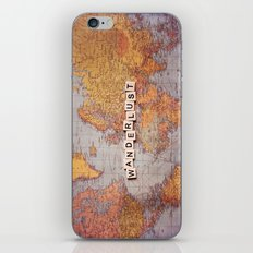 wanderlust map iPhone & iPod Skin