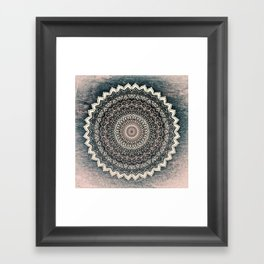 WARM WINTER MANDALA Framed Art Print